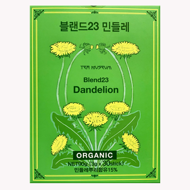 티뮤지움 블랜드23 민들레 뿌리차 90g(3g x 30스틱)Tea Museum Blend23 Dandelion Tea Net90g(3g x 30stick)